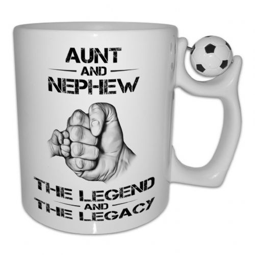 The Legend And The Legacy Novelty Gift Mug - Football Handle